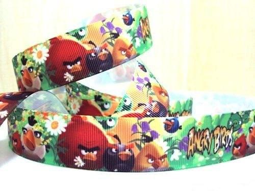 Stuha rypsová š.25 mm: Angry Birds