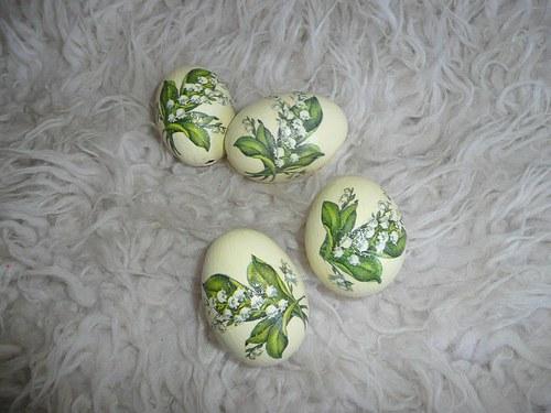 Velikonoční vajíčka - konvalinky