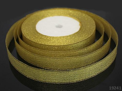 19241 Lurexová stuha zlatá 20 mm, svazek 3m