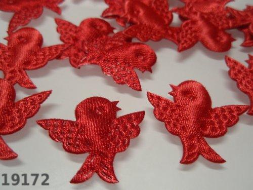 19172-B10 Aplikace ptáčci červení bal. 10ks