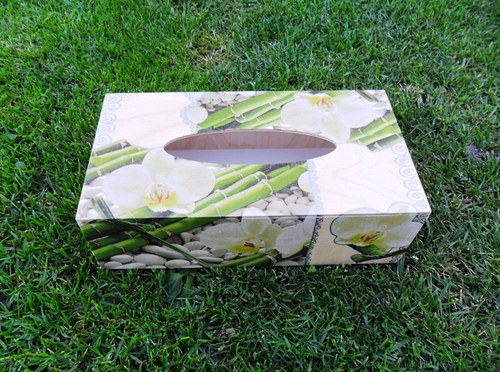 """Krabička na kapesníky \""""Bambus a orchidej\"""""""
