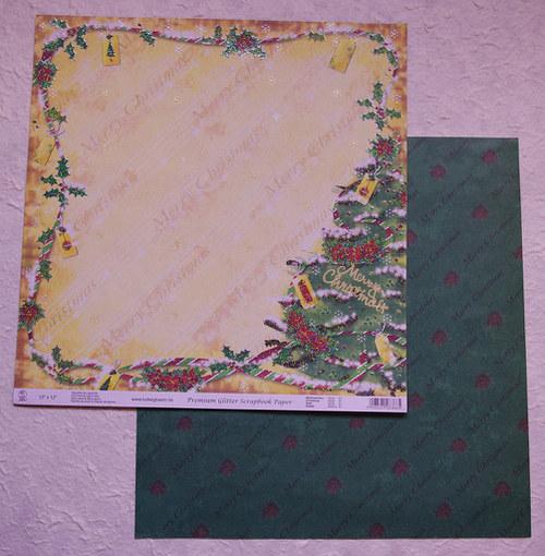 Glitrový scrap papír - vánoce 6
