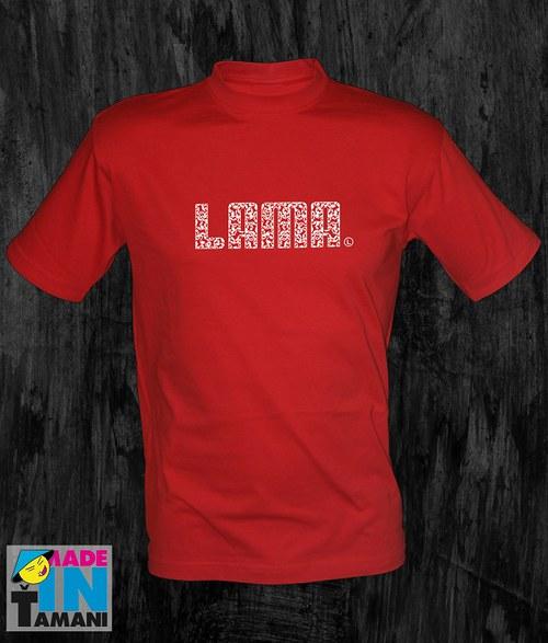 Pánské červené tričko Lama 04