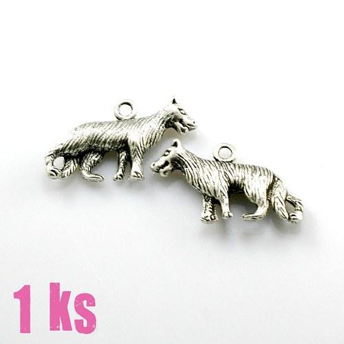 Přívěsek - vlk  (vlčák) 3D, 1 ks