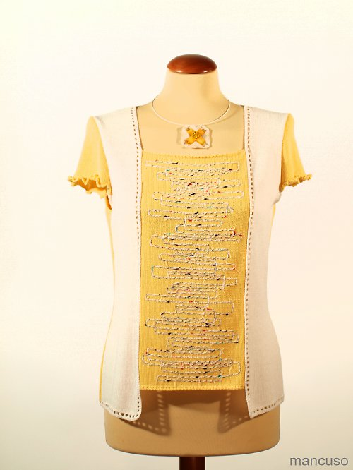 tričko žluté řádkování