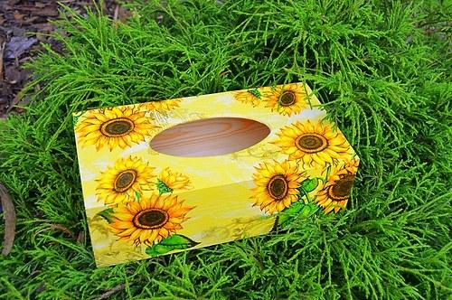 Krabička na kapesníky - slunečnice
