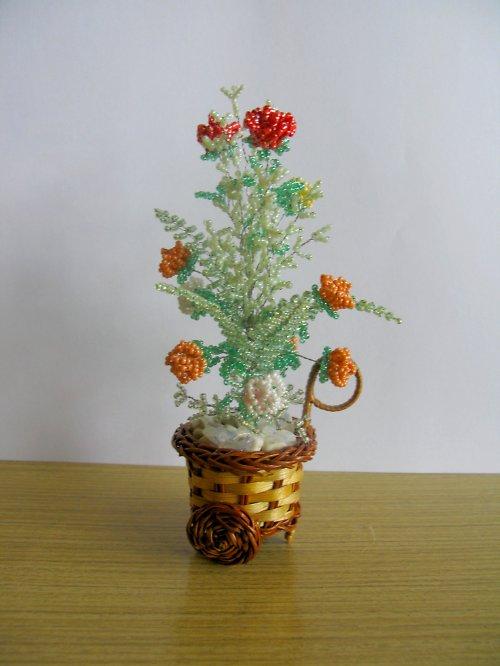 Kytice z korálků