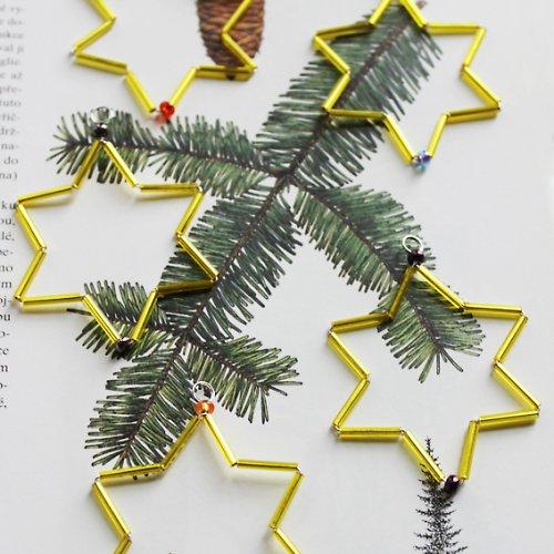 Vánoční hvězdička zlatá