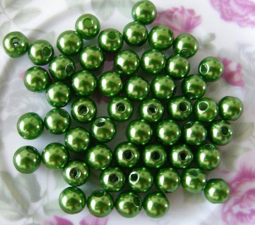 Perličky zelené 4 mm 50 ks