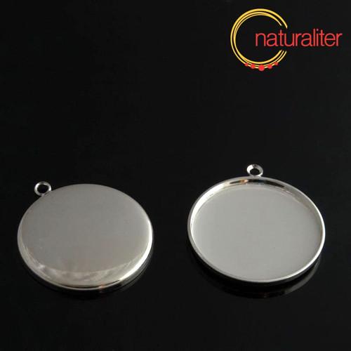 Lůžko kruh 25mm platinová barva