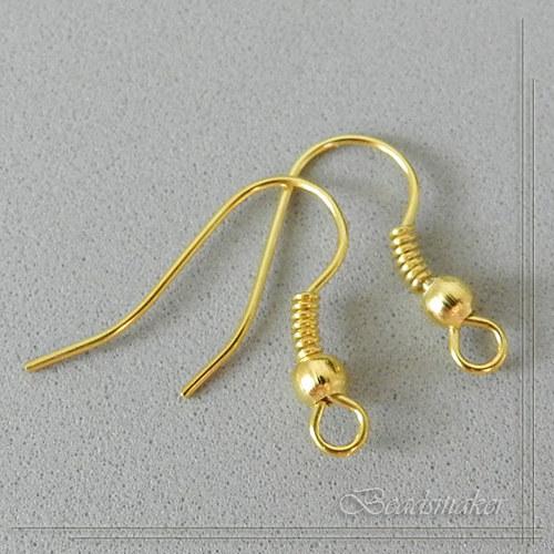 Afroháčky v barvě zlata - 10 ks