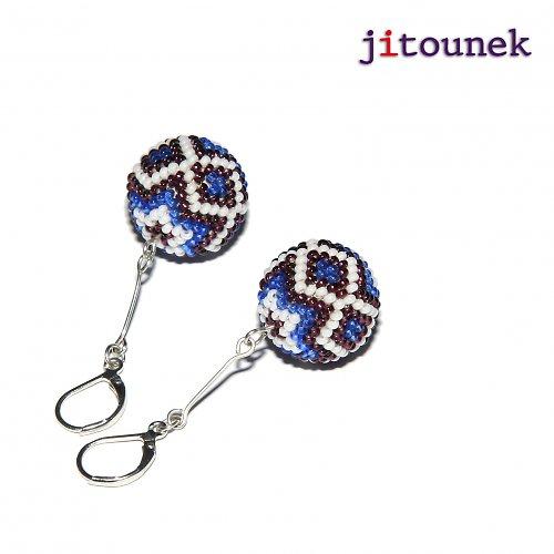 Modrofialové kuličky