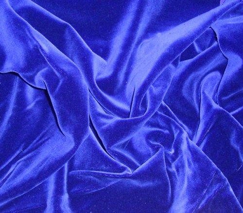 Luxusní bavlněný samet - jasně modrý, á 0.5m