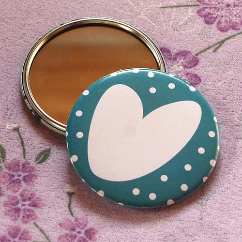 Zrcátko srdce II (75 mm) s pytlíčkem