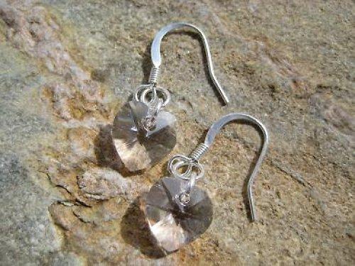 Náušnice Srdce 10 mm Swarovski Crystal