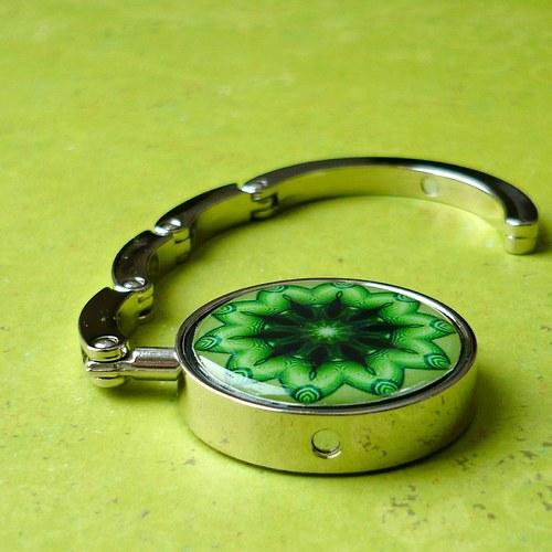 Háček na kabelku - zelený