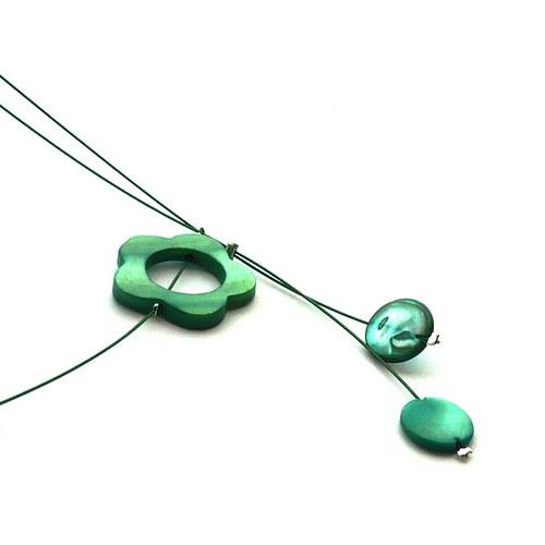 Zelený perleťový náhrdelník