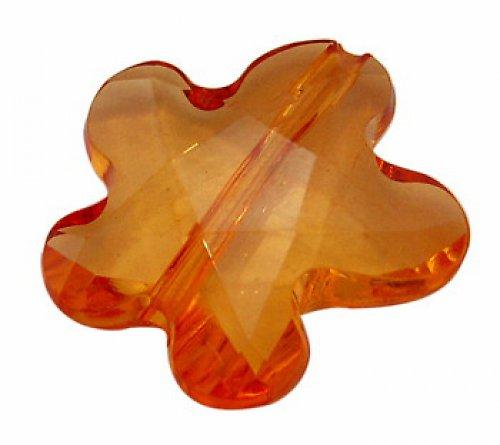 0800701/Květina plast oranžová, 3 ks