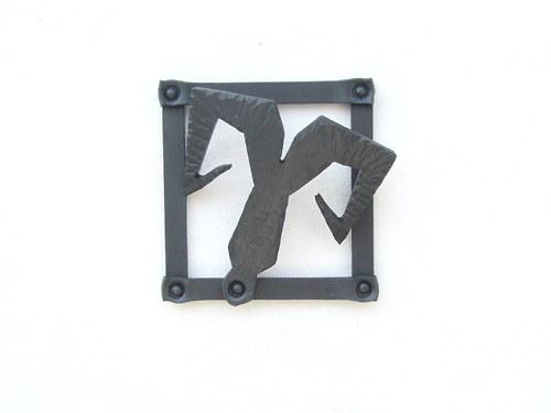 Kovaný obrázek - znamení beran