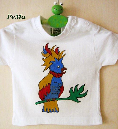Dětské tričko s papouškem