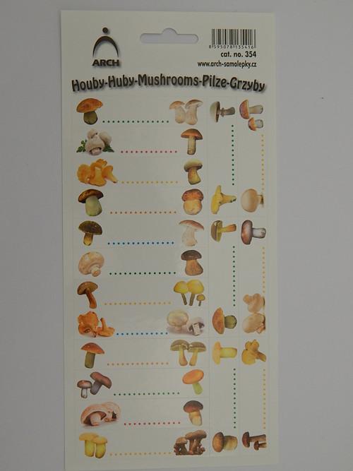 Samolepky etikety houby