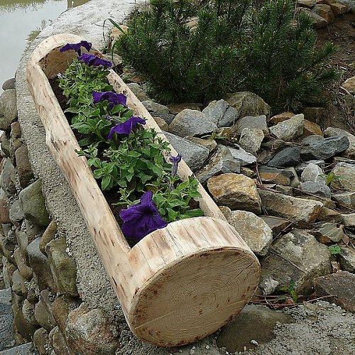 Dřevěný truhlíkový květináč délky 110-140