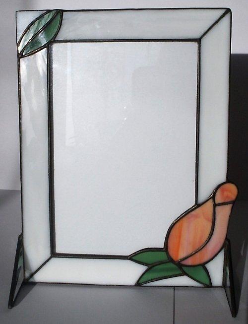 Rámeček na fotografii s růží