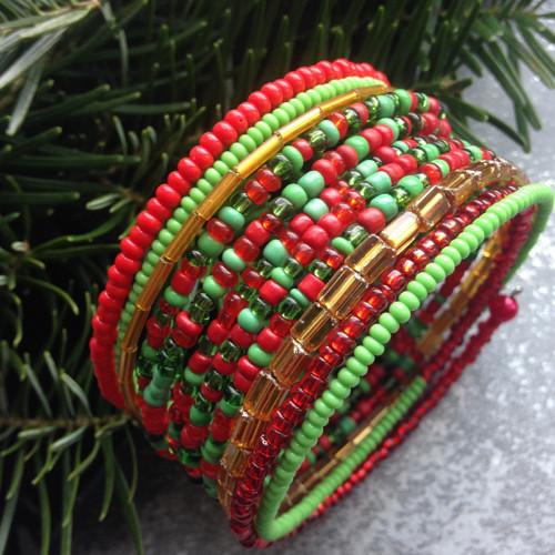 Náramek Vánoční se zlatou žilkou