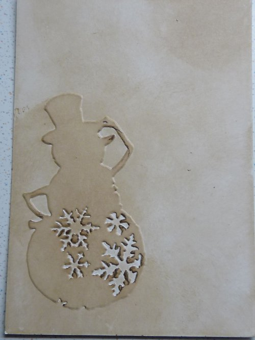 Embossovaný polotovar k dotvoření - sněhulák