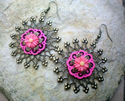 Kvetoucí filigrán - náušnice