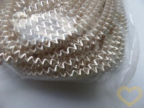 Ozdobný stříbrný drát bouillon - 100 g
