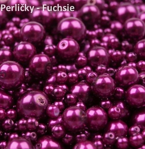 Mix perliček, 4-12mm, Fuchsie, 80 ks