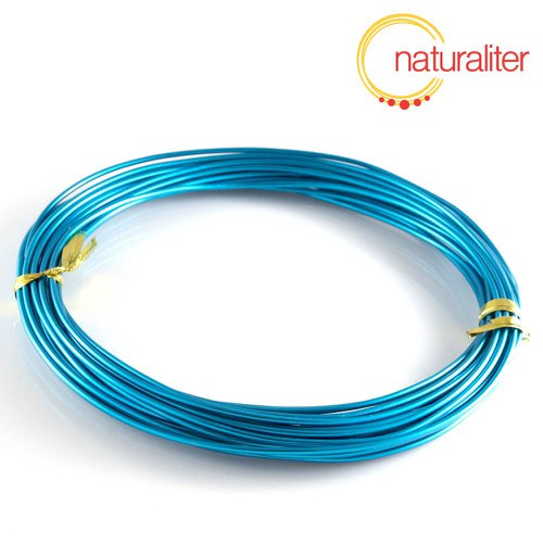 Hliníkový drát světle modrý, 1,5mm x 6m