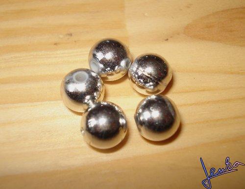 Korálky stříbrné 8 mm
