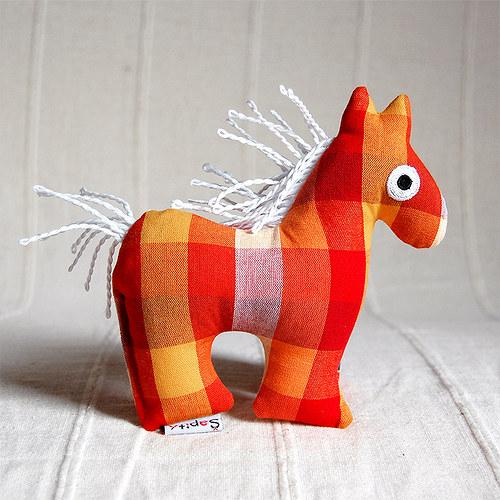 Koník - textilní  hračka