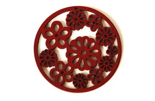 dřevěná kolečka- červenohnědá