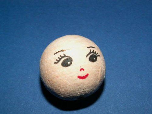 vatová hlavička  - panenka, panáček - malý úsměv