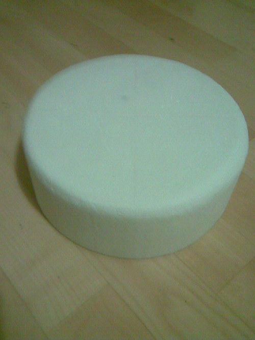 Korpus kulatý 26 cm průměr - válec polystyren