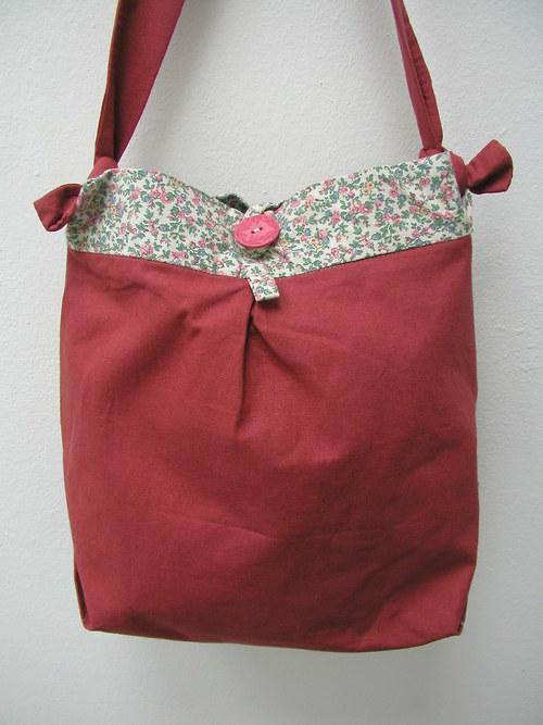 Textilní kabelka- romantická