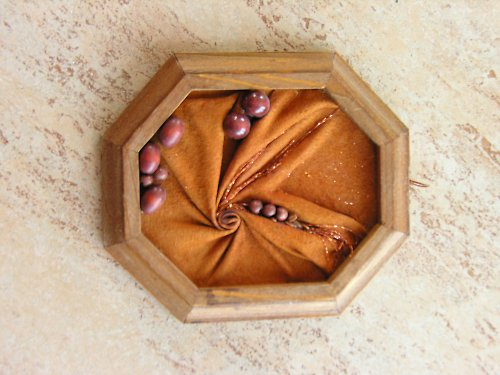 Obrázek z kůže a dřeva