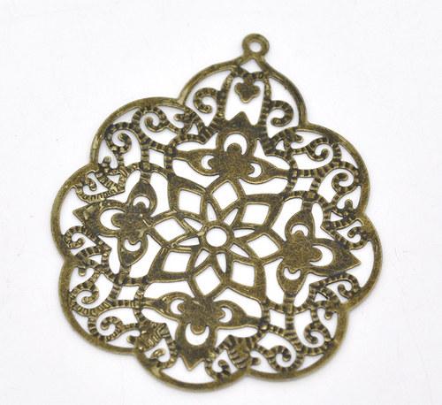Filigrán Maroko/ bronz/ 58x48mm/ 1ks