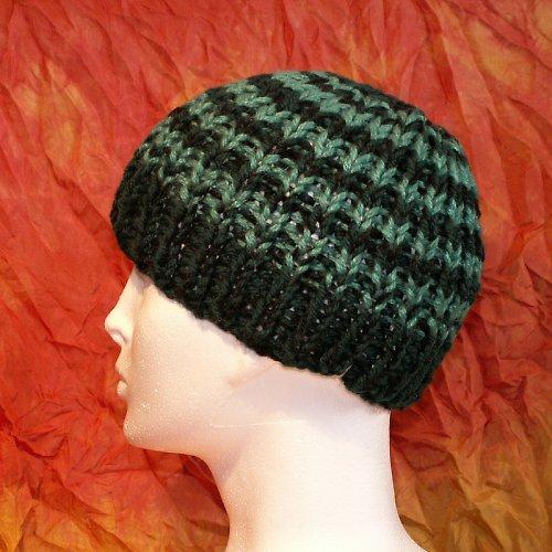 čepice pletená - pruhovaná
