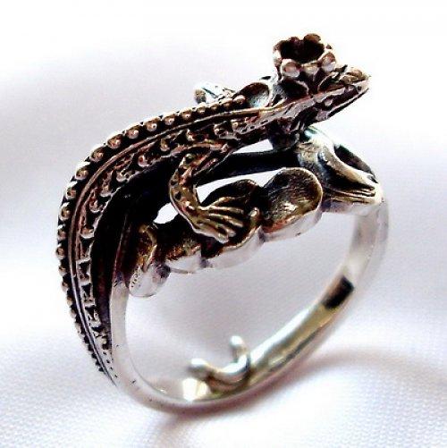 Prsten «Ještěrka» - stříbro 925