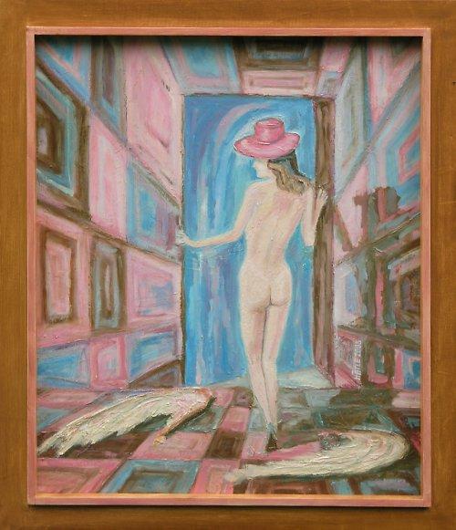 Obraz Růžový anděl