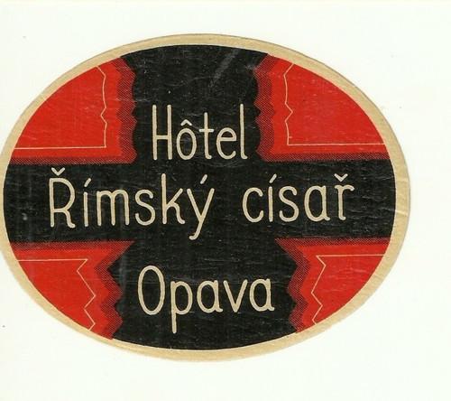 Hotelové nálepky styl Brusel Hotel Opava