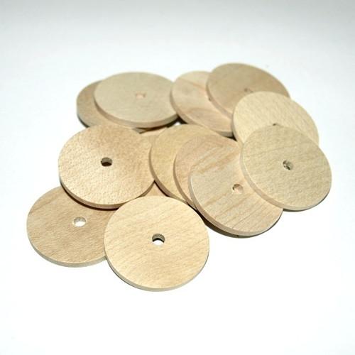 Dřevěné korálky natural 25x2mm (cena 15ks)