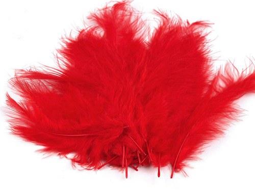 Pštrosí peří délka 120-170mm 20ks červená