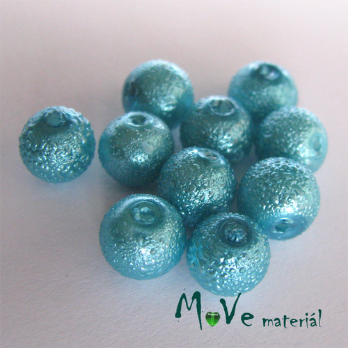"""Voskové perle \""""Zigana\"""" 8mm, 10ks, tyrkysová"""