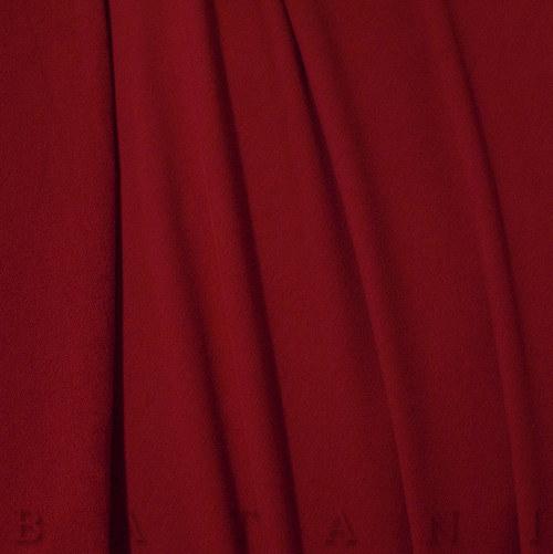 Teplákovina elastická tmavě červená