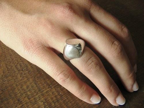 Wild silver III. - prsten celostříbrný atypický